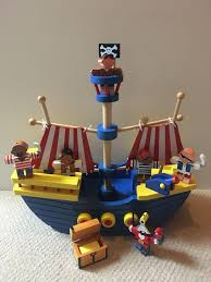 new large wooden pirate ship