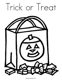 Small Picture Halloween is in October Coloring Page Twisty Noodle