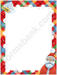 Santa List Template Santa List Christmas Page Border Template Printable Pdf Download