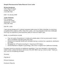 Cover Letter Template Pharmaceutical Sales Winning Cover