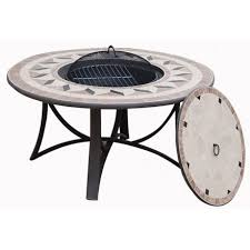 Table round low garden Hawaii aspect wrought iron and mosaic ...