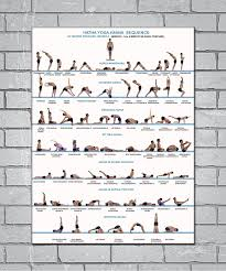 Us 2 78 7 Off Yoga Exercise Bodybuilding Chart Light Canvas Custom Poster 24x36 27x40 Inch Home Decor N777 In Wall Stickers From Home Garden On
