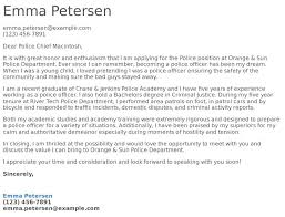 Police Cover Letter Examples Samples Templates Resume Com