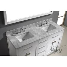 Square Sinks Bathroom Virtu Usa Md 2060 Wmsq Caroline 60 Double Square Sinks Bathroom