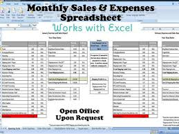 Monthly Expenses Spreadsheet Monthly Sales And Expenses Spreadsheet Summarizes Etsy Paypal