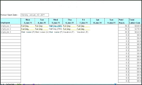 Schedule Maker Excel Template Lovely Employee Vacation