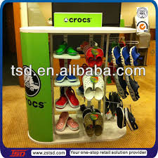 Footwear Display Stands TSDM100 Custom retail shop pos display shelving for shoesshoes 90