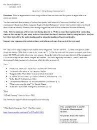 quarter final essay assessment english clause essays