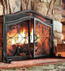 fireplace screens doors wrought iron custom made rustic