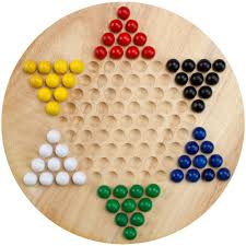 Game With Wooden Board And Marbles Amazon All Natural Wood Chinese Checkers with Wooden Marbles 53