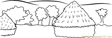 Haystacks Coloring Page Free Andy Warhol Coloring Pages