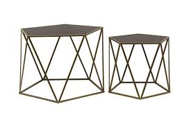 DIAMOND <b>COFFEE TABLE 2PCS</b> BLCK - Malloupas & Papacostas