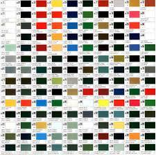 Color Reference Charts Gunze Sangyo Aqueous Map