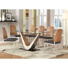 remarkable glass topped dining table and chairs round dining table set for 6 hollywood s 6