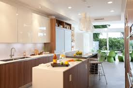 painted white kitchen cabinets. Eat-in Kitchen - Modern Idea In Miami With Flat- Painted White Cabinets D