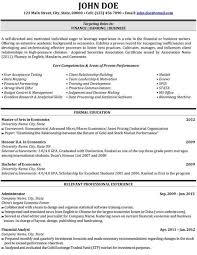 36 Best Best Finance Resume Templates & Samples Images On within Finance  Student