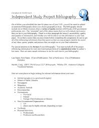 Independent Study Project Bibliography
