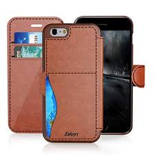 iphone 8 iphone 7 leather wallet case with cards slot and metal magnetic slim