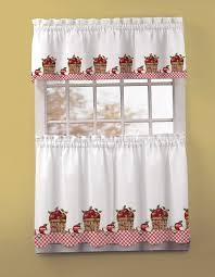 Red Plaid Kitchen Curtains Christmas Plaid Kitchen Curtains Cliff Kitchen