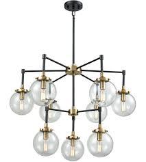 elk 14438 6 3 boudreaux 9 light 30 inch matte black and antique gold chandelier ceiling light