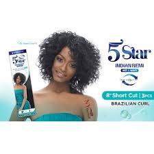 harlem 125 indian remi wet wavy short cut 3pcs brazilian curl