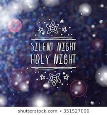 silent night holy night background. Delighful Silent Christmas Label With Text On Blurred Background Silent Night Holy Night  Typographic Element For Night Holy Background
