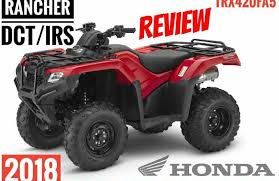 2018 honda 420 rancher. exellent 420 2018 honda rancher 420 dct  irs atv review of specs u0026 features  trx420fa5  4x4 and honda rancher