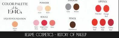 1940s makeup secrets color palette