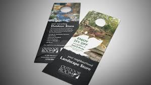 Landscaping Company Door Hanger Design Brochure Builders
