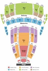The Buell Theatre Seating Chart Denver