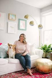 Female Room Painting Design Nyc Creative Director Kristen Poissant With Corgi Kristen