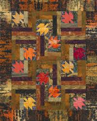Quilt Inspiration: Free Pattern Day ! Autumn Leaves quilts & Fall Leaves Table Topper, 18.5