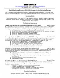 Marketing Executive Resume Examples Communications Manager Sample