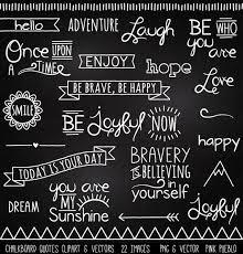 Chalkboard Quotes Clipart Clip Art Chalk Board Words Clipart Etsy Inspiration Chalkboard Quotes