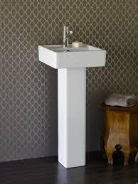 making modern pedestal sink skirt