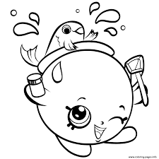 Small Picture Print FishBowl shopkins season 4 coloring pages cooki kooki