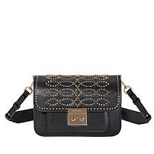 michael kors sloan studded leather shoulder bag black item no 30f8gs9l3u 001