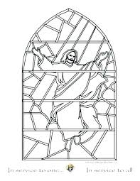 Stained Glass Coloring Pages Stained Glass Coloring Pages Printable
