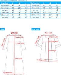 Choir Robe Size Chart Graduation Choir Gown Size Chart