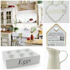 Shabby Chic Country Kitchen Shabby Chic Kitchen Accessories In A Country Cottage