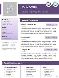 Resume Templates For Openoffice Fascinating Resume Template Openoffice Add Photo Gallery Resume Templates Open