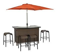 living accents corona 6 piece wicker bar set 1 outdoor patio bar table