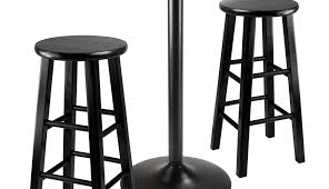 remington black indoor round wood sets and bistro kitchen chrome piece chairs extraordinary outdoor pub table