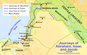 Map Of The Journeys History Of Abraham Isaac Jacob
