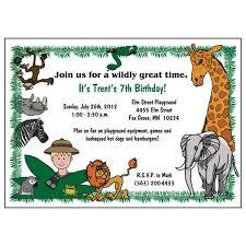 Safari Party Invitations Jungle Or Safari Birthday Party Invitation Boy Mandys Moon