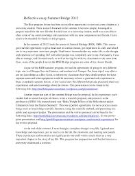 essay about summer co summer bridge essay