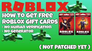 roblox how to get free roblox gift cards no human verification not patched yet