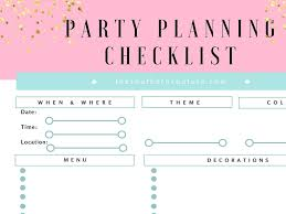 Party Planning Get Your Free Party Planning Checklist