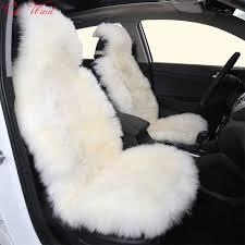 custom sheepskin seat covers 1set long wool seat covers faux fur car seat covers universal size
