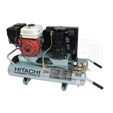 hitachi 2 hp air compressor. hitachi ec25e 6.5-hp 8-gallon gas wheelbarrow air compressor w/ honda engine 2 hp
